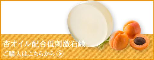 ココロ化粧品・杏オイル入り低刺激石鹸購入